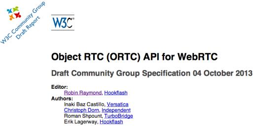 ORTC API - Draft